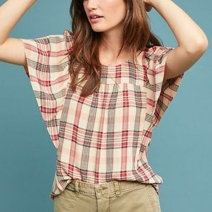 ANTHROPOLOGIE - NWT Priscilla Plaid Blouse
